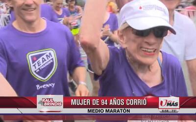 Mujer de 94 años corrió medio maratón