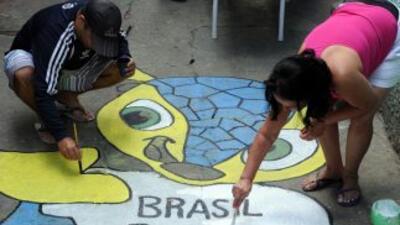 Las calles de Brasil se llenan de color.