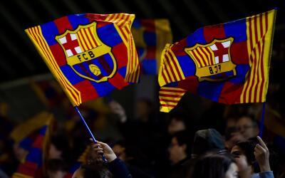 Banderas del FC Barcelona.