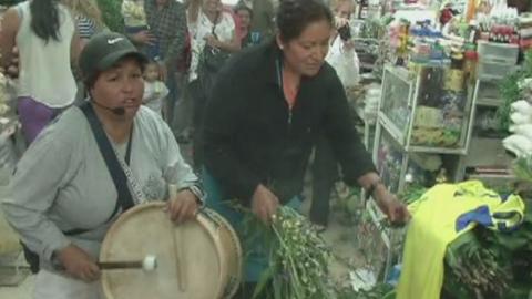 """Con el cántico """"Ecuador, sí se puede"""" se complet..."""