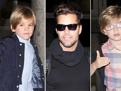 Ricky se dejó ver con sus pequeños una vez más. M&a...