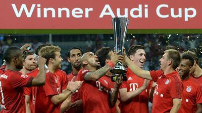 El equipo alemán venció al Real Madrid en la final de la Audi Cup.