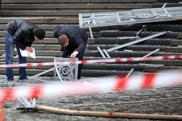 """La explosión ocurrió en la zona de entrada del edificio de la estación """"..."""