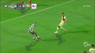 'Cabecita' Rodríguez estuvo cerca del 2-0 para Santos
