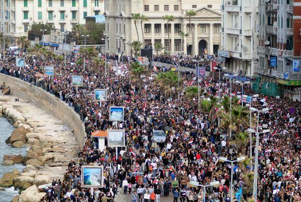 La manifestación de hoy es la segunda más grande en cuanto a proporción,...