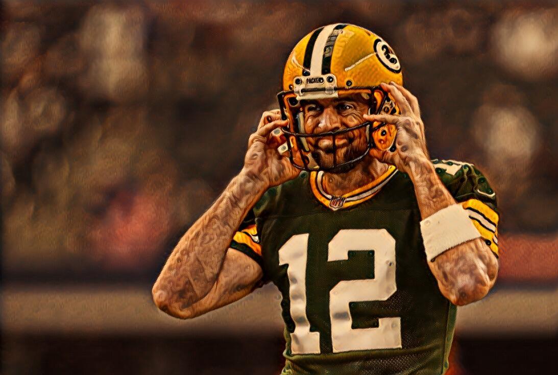 Aaron RodgersEl mariscal de campo de los Green Packers sufrió una fractu...