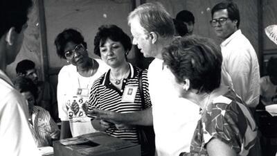 "Jimmy Carter congratulates Panama on a ""super job"""