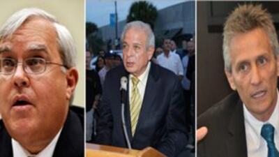 Alcaldes de Coral Gables, Miami y Doral, respectivamente.