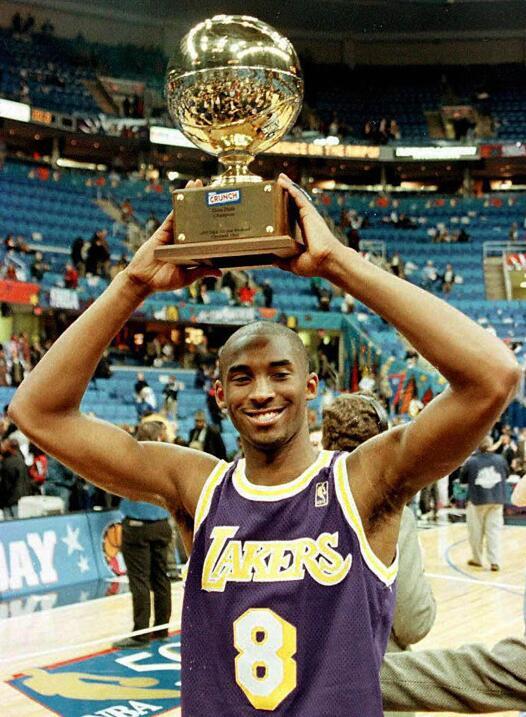 Kobe inició su carrera en 1996 y al año siguiente ganó el Slam Dunk.