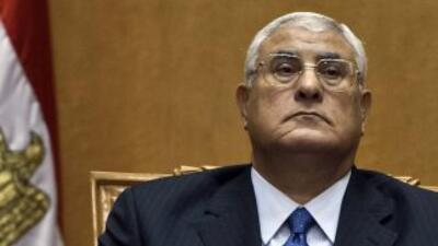 Adli Mansur, presidente interino de Egipto.