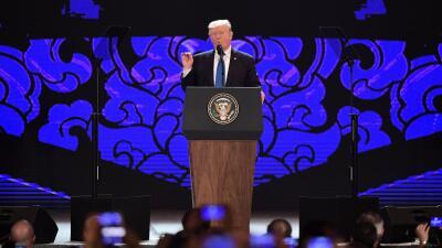 Discurso de Donald Trump en la cumbre Asia-Pacífico, en Vietnam.