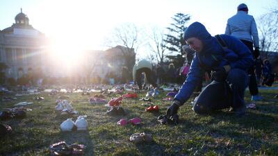 7,000 pares de zapatos frente al Capitolio: la simbólica protesta a favor del control de armas