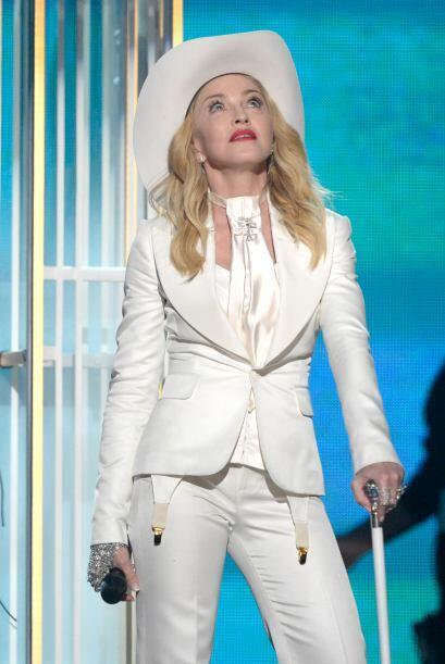 Madonna también entonó el estribillo de su canción...