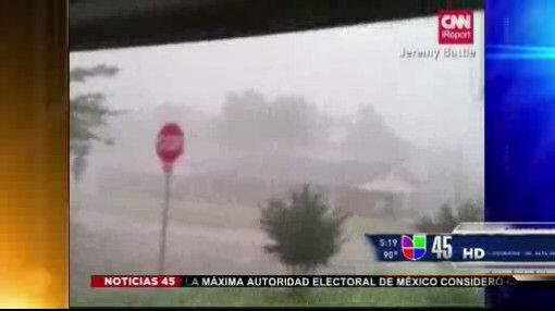 Captado en video: Tremenda granizada en Oklahoma City