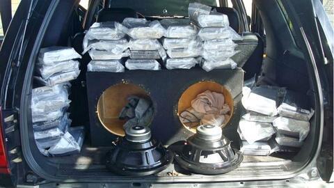 La cocaína oculta en las bocinas esta valorada en más de $...