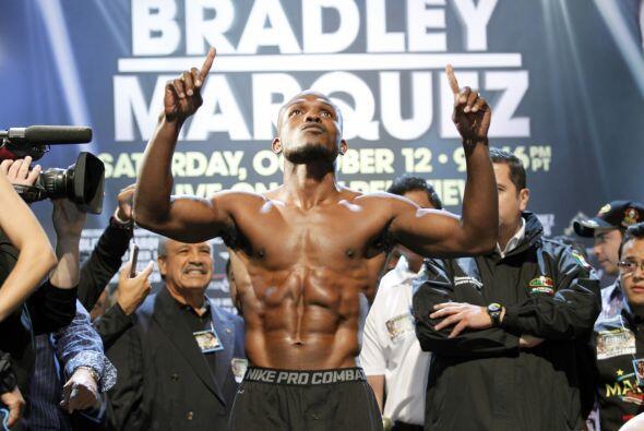 El segundo en la báscula fue Bradley, el marcó 146 libras...