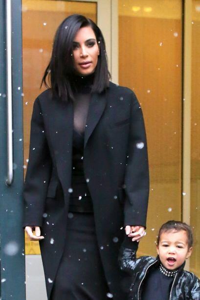 Feliz con la nieve en Nueva York.