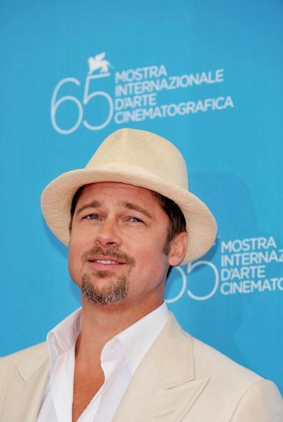 Brad Pitt durante el Festival de Cine en Venecia. ¿Qué tal el sombrero?