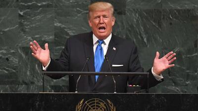 Trump fustiga a regímenes de Cuba y Venezuela ante la ONU