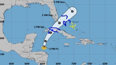 D: Depresión tropical: velocidad del viento inferior a 39 MPH. S: Tormen...