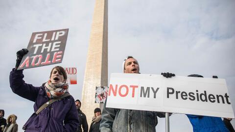 Las protestas en Washington DC ya empezaron.