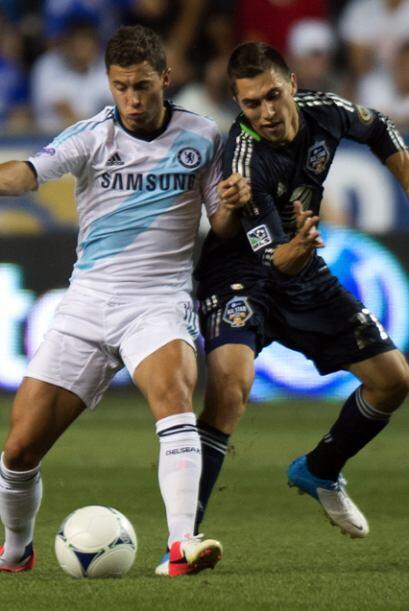 2012: MLS 3-2 Chelsea. Un gol de Eddie Jonshon en tiempo de descuento le...