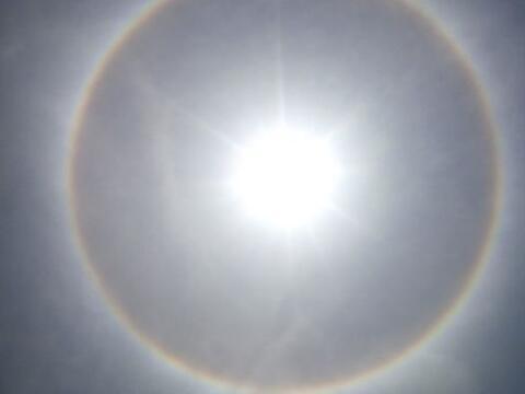 Un impresionante Halo Solar sorprendió a los residentes de la Ciu...
