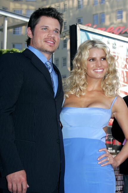Cuando Jessica Simpson y Nick Lachey eran pareja.