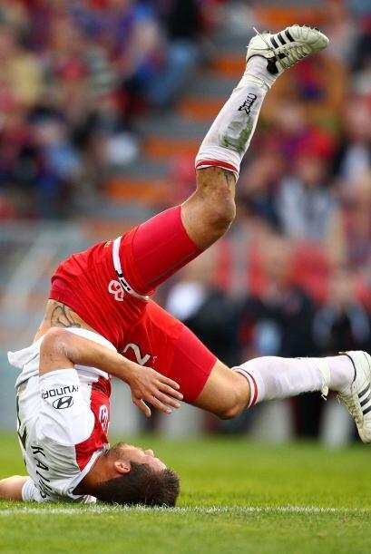 Muchos jugadores intentan y no puede, hasta quedar 'patas para arriba'.
