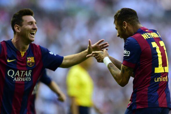 Y sorpresa al inicio del partido con un golazo de Neymar cuando apenas c...