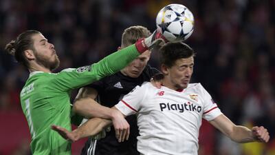 En fotos: Sevilla no pudo con un gigantesco De Gea e igualó sin goles de local ante el Manchester United