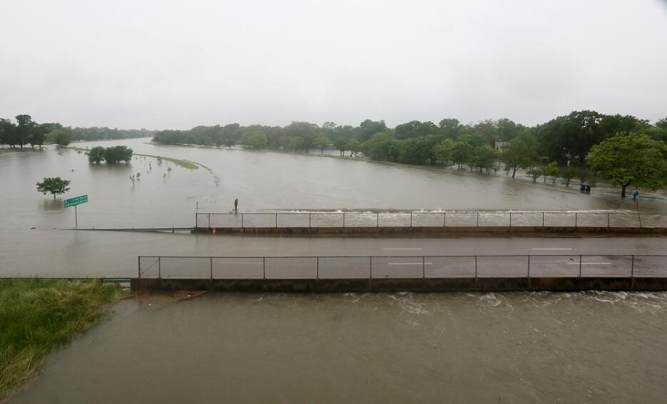 Aspecto aéreo de cómo ha quedado la ciudad completamente bajo las aguas.