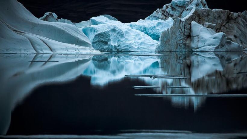 Una noche tranquila en la isla de Ellesmere, Canadá, donde hay ve...