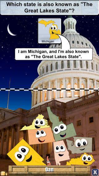 STACK THE STATES - Aprende las capitales de los estados, formas, ubicaci...