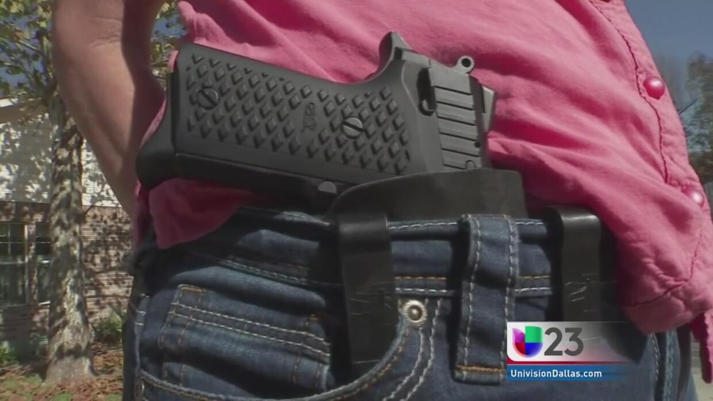 Portación abierta de armas en Texas