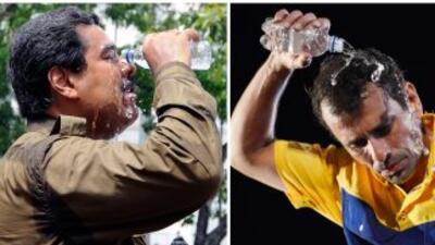 El presidente Electo, Nicolás Maduro (izquierda) y el gobernador Henriqu...