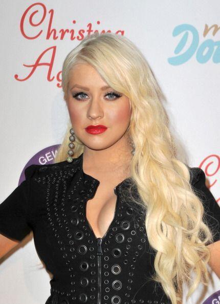 ¡Christina Aguilera es una total adicta a los labios rojos! Pocas veces...