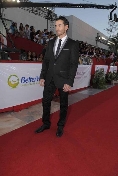 David Zepeda en la alfombra de Premios TVyNovelas 2010