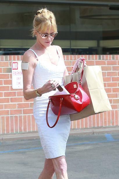 Durante estos días fue vista saliendo de una Corte en Beverly Hills, Cal...
