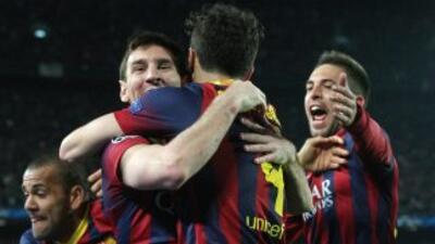 Messi recuperó su magia y marcó el primer gol de los catalanes.