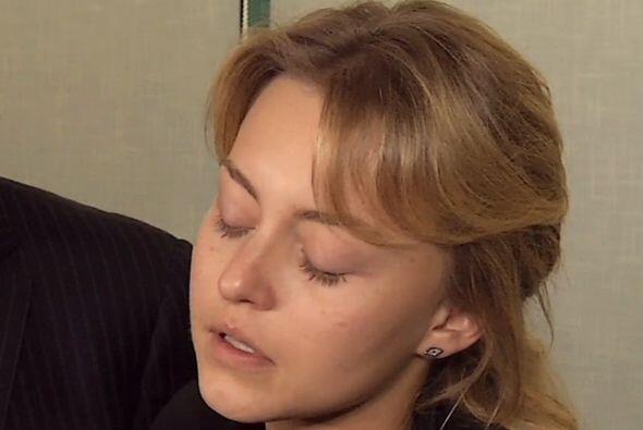 """La actriz lució desconsolada. """"Hoy se me fue el amor de mi vida y..."""