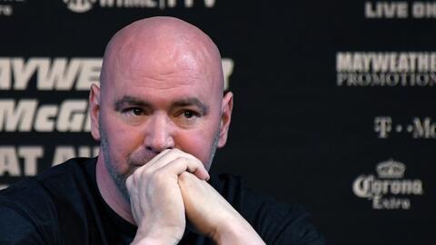 El presidente de UFC, Dana White, durante la conferencia de prensa para...