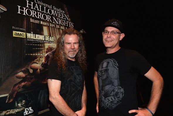 El artista del 'make up' Larry Bones quien trabaja en Universal Studios...