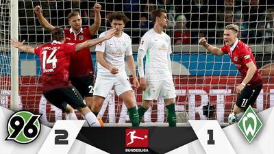Hannover rompe su mala racha al vencer al Werder Bremen