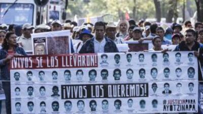 Protesta en México para exigir al gobierno el esclarecimiento del parede...