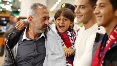 """I love you Madrid"", repetía Osama Abdul Mohsen a su llegada a la céntri..."