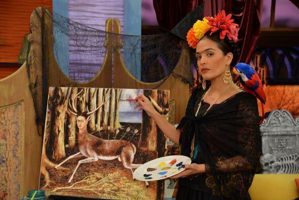 Ella se dijo orgullosa de la belleza y el talento de esta pintora, recon...