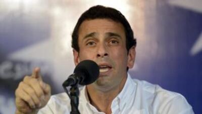 El gobernador del estado Miranda, Venezuela, Henrique Capriles.