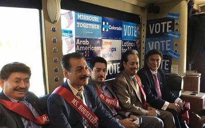 Los Tigres del Norte en su campaña a favor de Clinton.