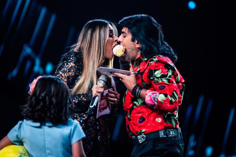 El 'romántico momento en que Gali y Albertano quedaron nariz con nariz (...